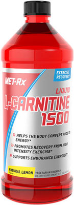 Liquid L-Carnitine 1500 with Vitamin B5 - Natural Lemon Muscular Energy Formula